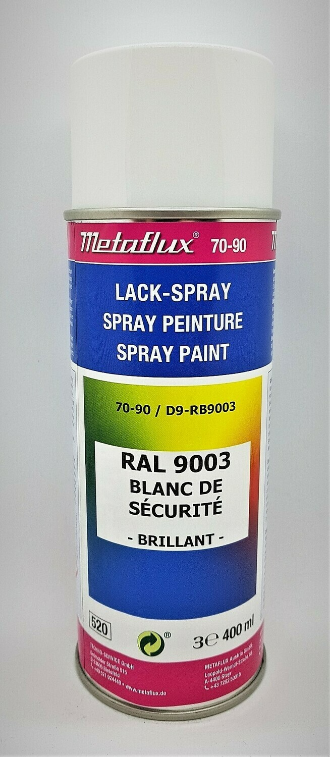 Metaflux Lak Spray RAL 9003 Signaalwit 400 ml
