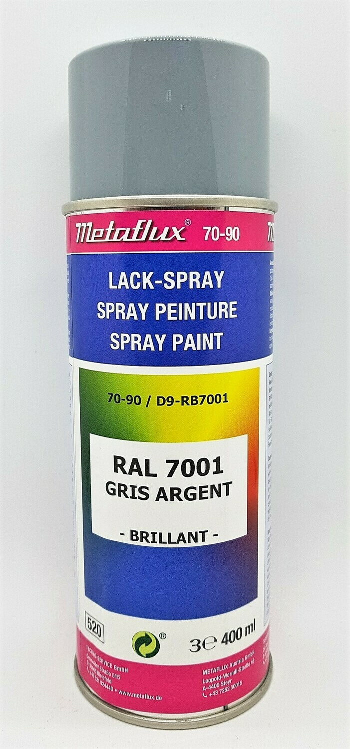 Metaflux Lak Spray RAL 7001 Zilvergrijs 400 ml