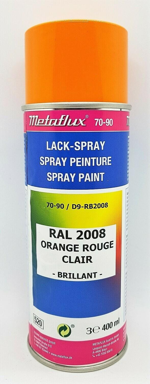 Metaflux Lak Spray RAL 2008 Licht roodoranje 400 ml