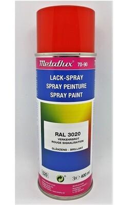 Metaflux Lak Spray RAL 3020 Verkeersrood 400 ml