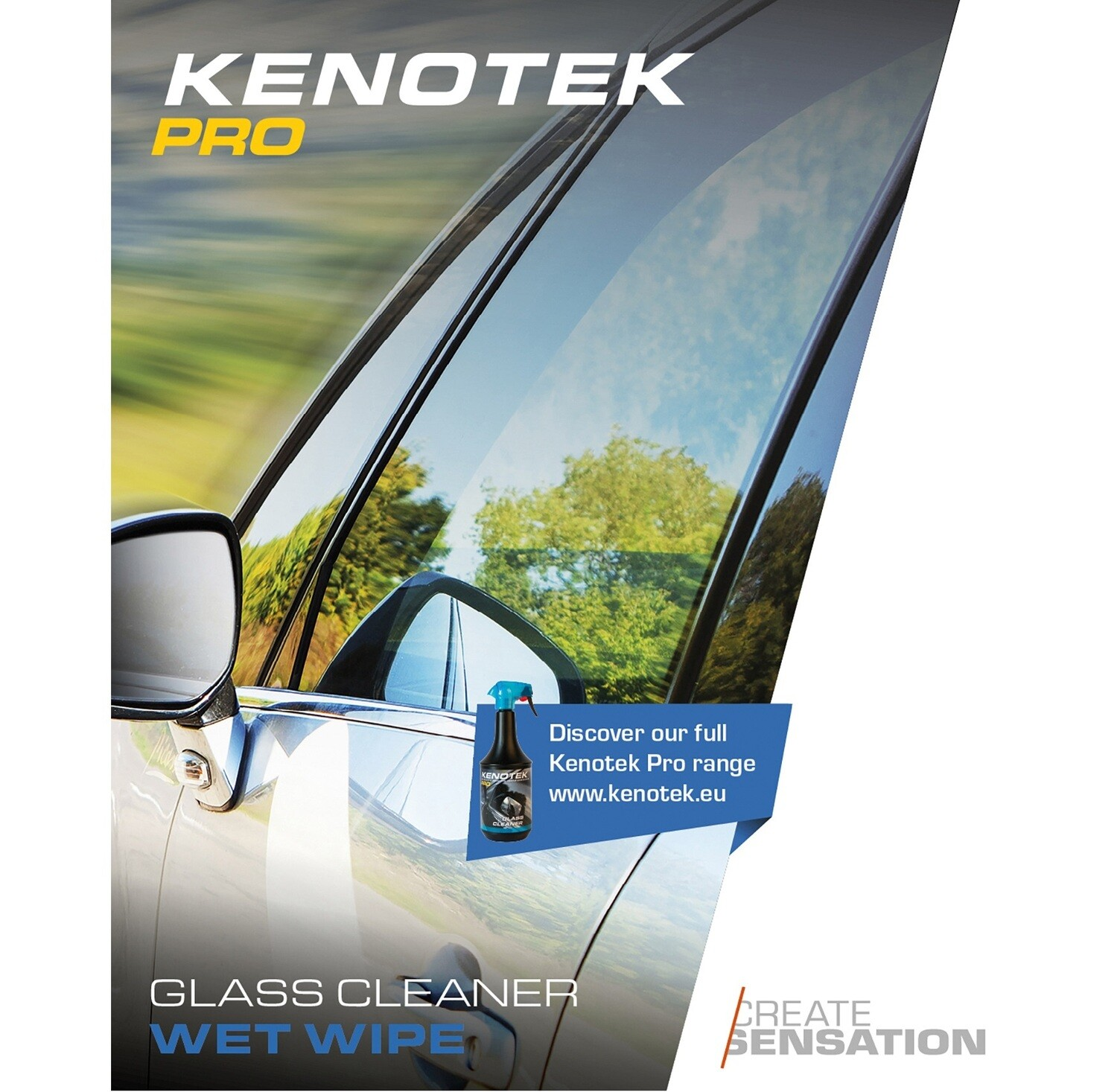 Kenotek Wet-Wipe Glass Cleaner