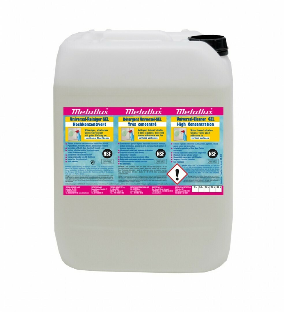 Metaflux universal reiniger gel NSF 20 L