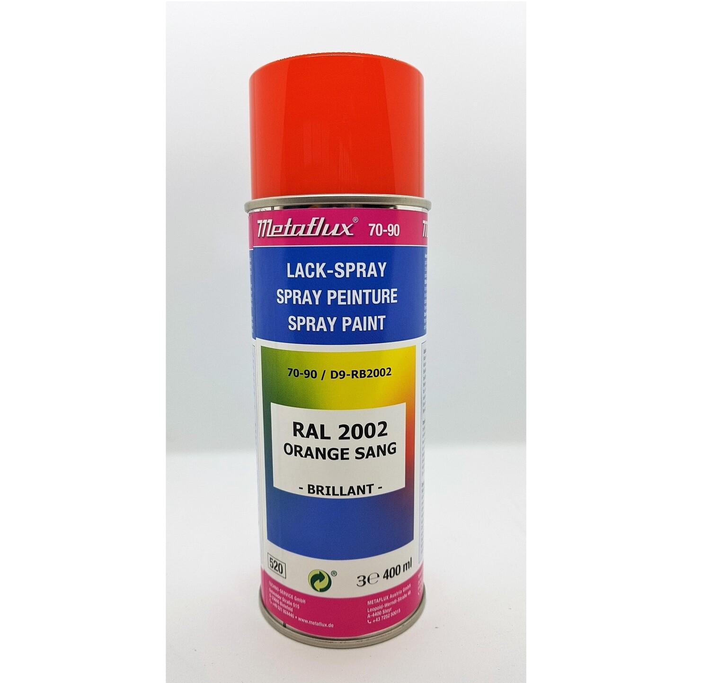Metaflux Lak Spray RAL 2002 Vermiljoen, inhoud: 400 ml