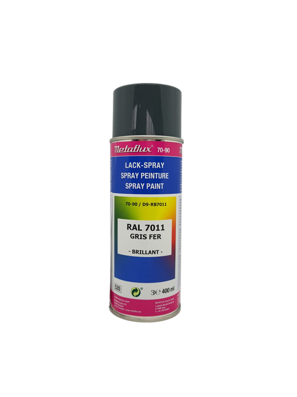 Metaflux Lak Spray RAL 7011 ijzergrijs 400 ml