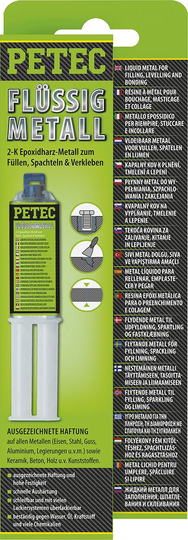 Petec vloeibaar metaal 2-componenten 25 ml blister