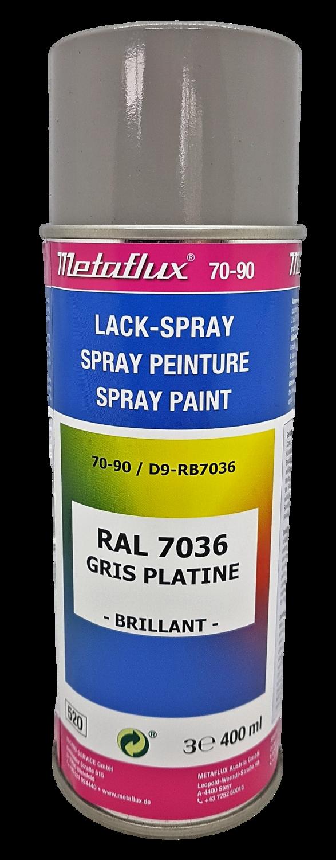 Metaflux Lak Spray RAL 7036 platinagrijs, inhoud: 400 ml