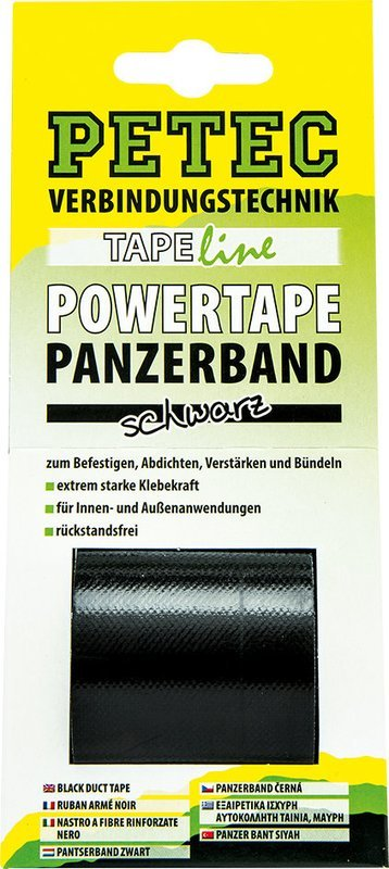 Petec power tape zwart 5 m x 50 mm blister
