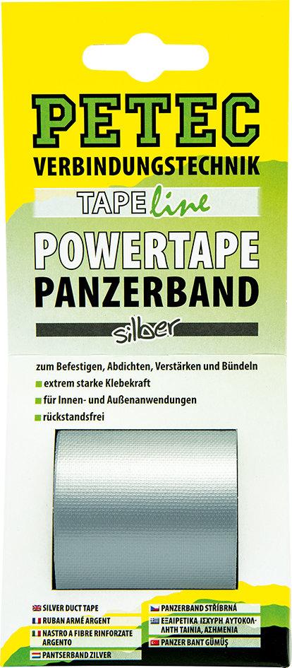 Petec power tape grijs 5 m x 50 mm blister