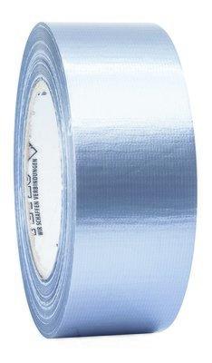 Petec universele textieltape zilver 50 m x 48 mm