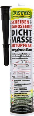 Petec ruiten- en carrosserie afdichting zwart patroon 310 ml