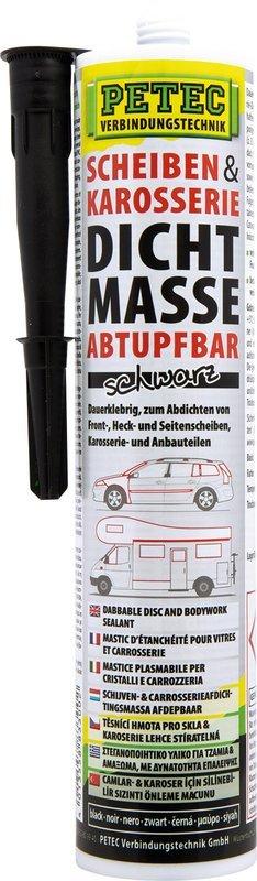 Petec ruiten- en carrosserie afdichting zwart patroon 310 ml