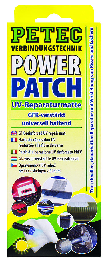 Petec Power Patch Reparatiemat 75 mm x 150 mm blister