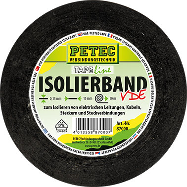 Petec isoleerband 10 m x 15 mm