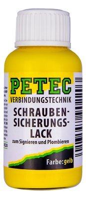 Petec gele verf voor markeren van schroefborging 20 ml