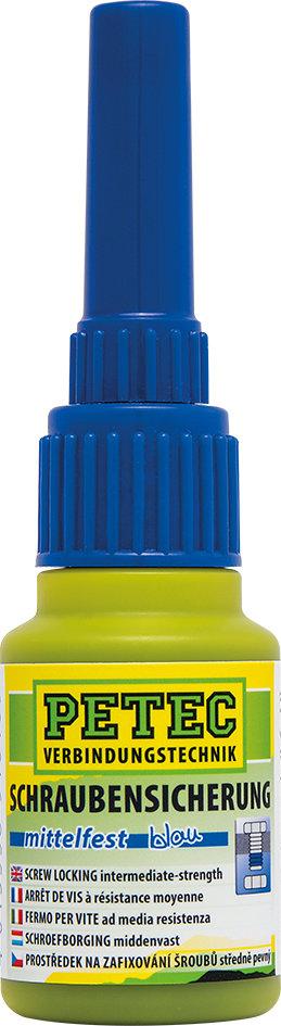 Petec schroefdraadborging middelmatig vast blauw 10 g