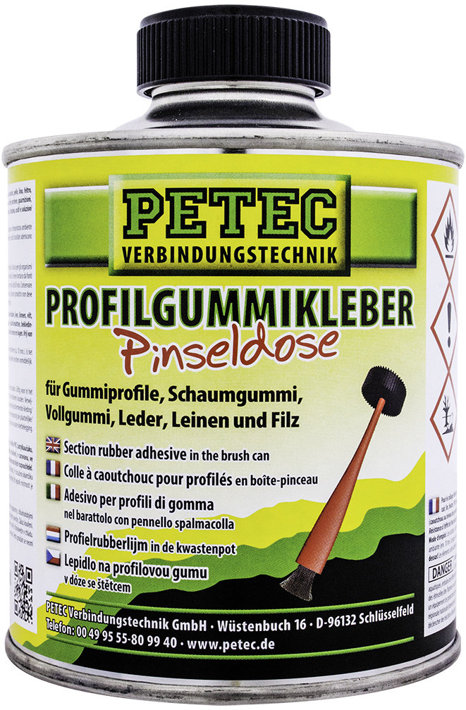 Petec profiellijm met penseel, inhoud: 350 ml