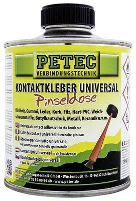 Petec universele contactlijm met penseel, inhoud: 350 ml.