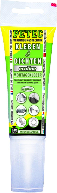Petec montagelijm ecoline transparant tube 80 ml