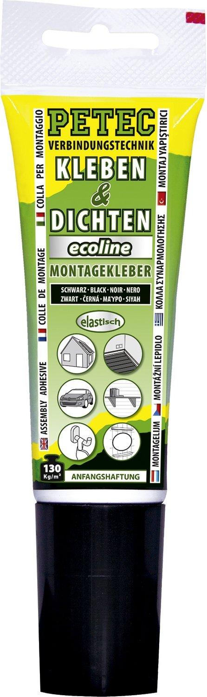 Petec montagelijm ecoline zwart  tube 80 ml