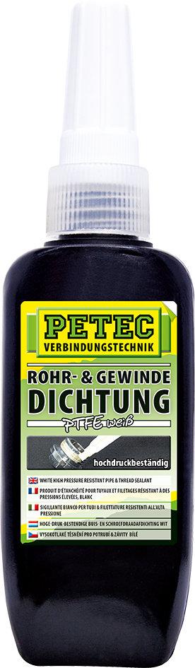 Petec hoge drukbestendige schroefdraadafdichting PTFE wit 50 ml