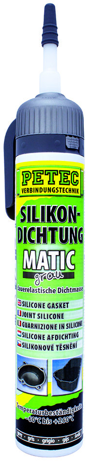 Petec matic SD siliconen afdichting grijs 200 ml