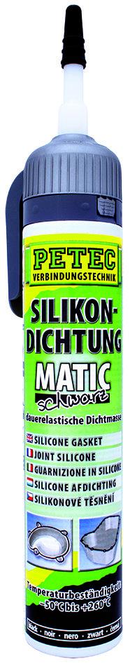 Petec matic SD siliconen afdichting zwart 200 ml