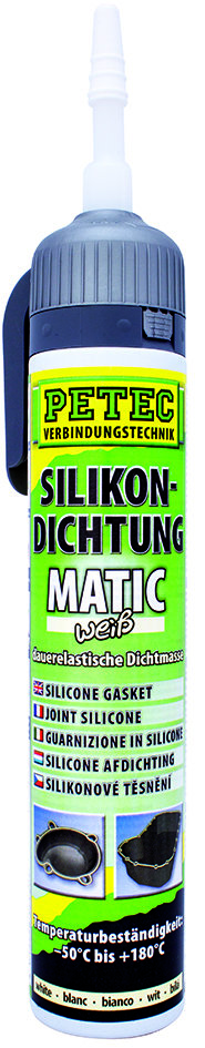 Petec matic SD siliconen afdichting wit 200 ml