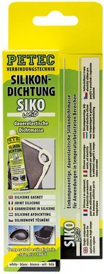Petec siliconen afdichting wit tube 70 ml blister