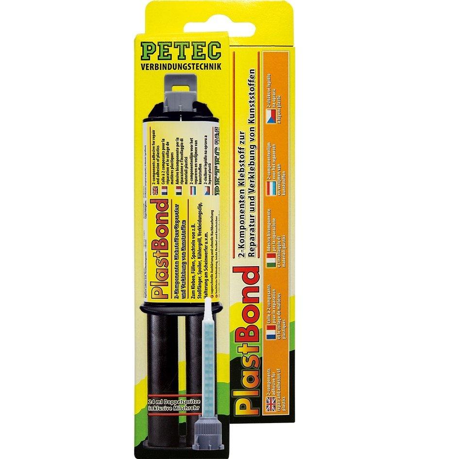 Petec plastbond 2-comp. lijm 24 ml + mengneus blister