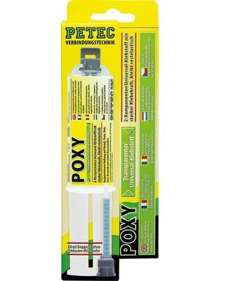 Petec poxy 2-comp. lijm 24 ml + mengneus blister