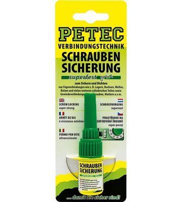 Petec schroefdraadborging super vast groen 5 gr. blister