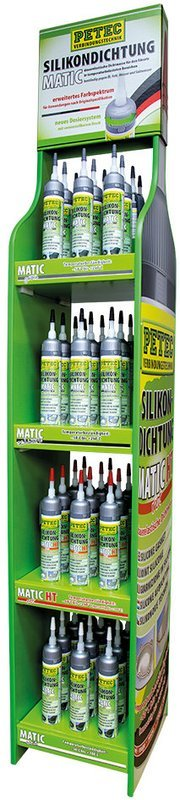 Petec display siliconen afdichting 200 ml, inhoud: 48 st.