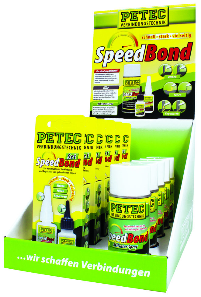 Petec display speedbond, inh: 6 x 93550 - 5 x 93515