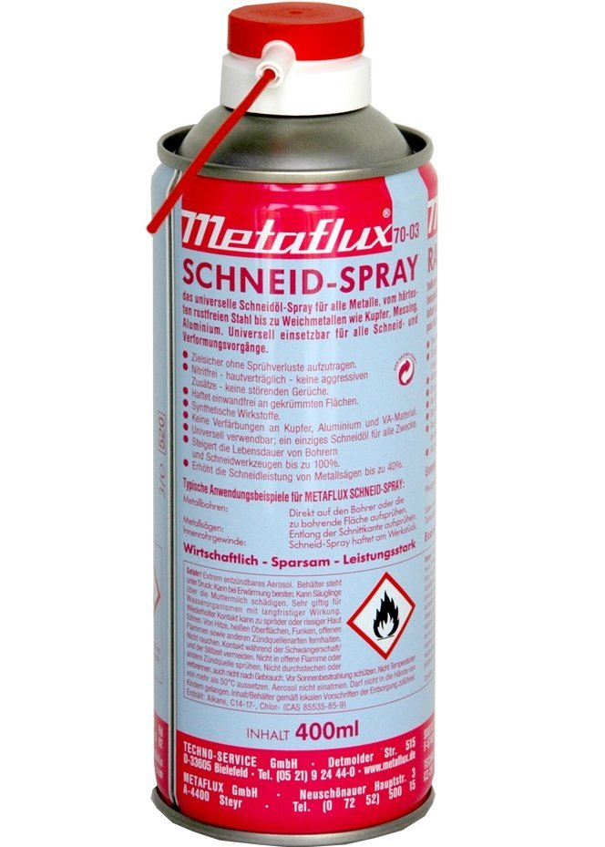Metaflux snij- en boorolie spray, inhoud: 400 ml