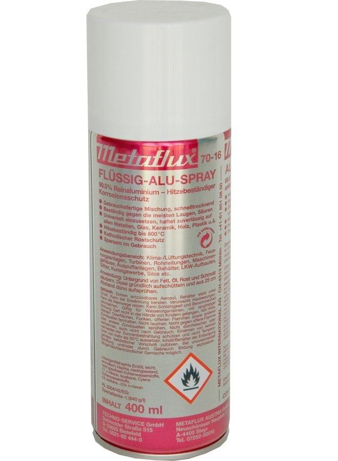 Metaflux vloeibaar aluminium spray, inhoud: 400 ml