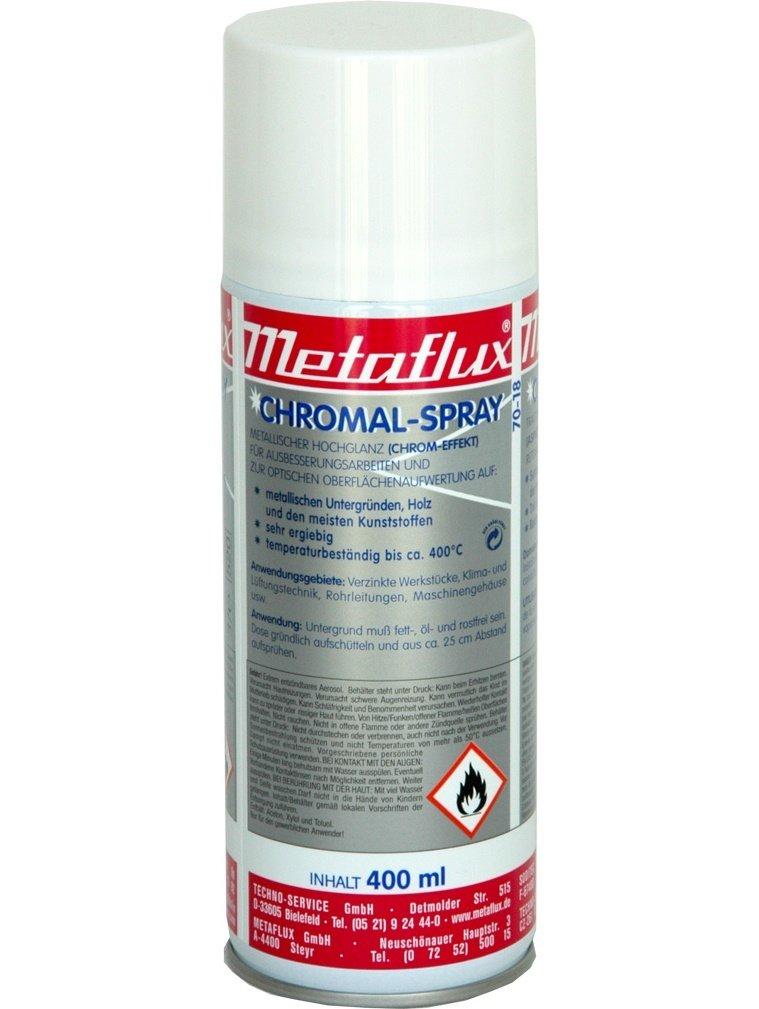 Metaflux chrome spray, inhoud: 400 ml