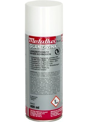 Metaflux glans zink spray, inhoud: 400 ml