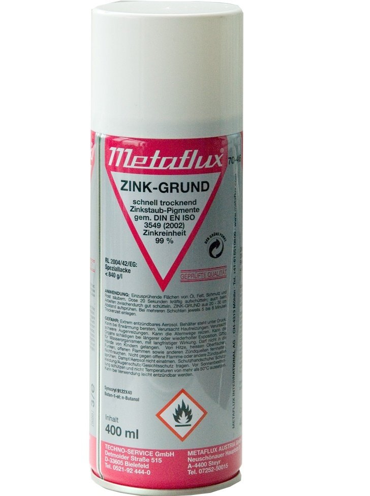 Metaflux zink grondering spray, inhoud: 400 ml