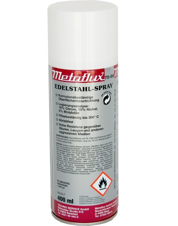 Metaflux inox spray, inhoud: 400 ml