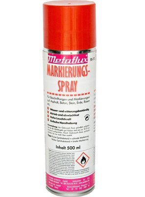 Metaflux markering spray rood (fluo), inhoud: 500 ml
