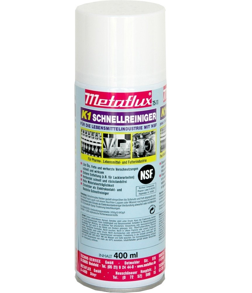 Metaflux NSF K1 Snelreiniger spray, inhoud: 400 ml
