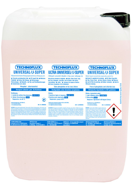 Metalfux ultrasoon reinigingsvloeistof, inhoud: 10 L