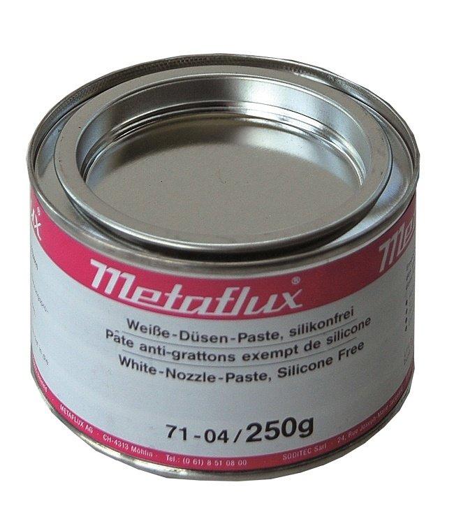 Metaflux anti spatter vet kleur: wit, inhoud: 250 gr
