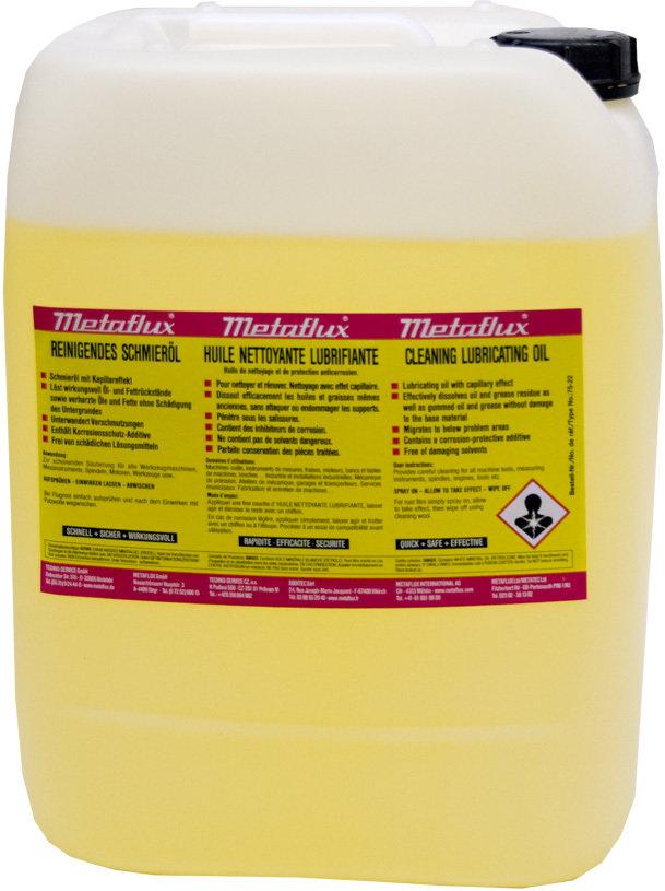Metaflux reinigende smeerolie, inhoud: 5 L