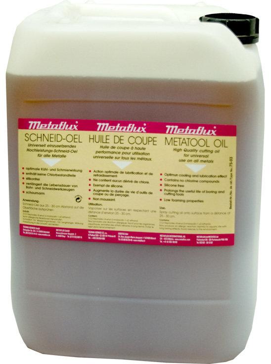Metaflux snij olie, inhoud: 30 L