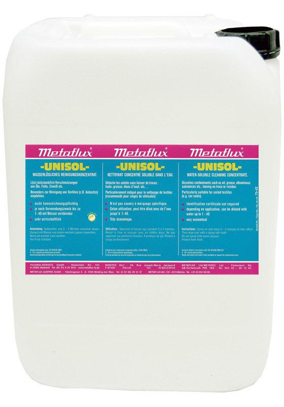 Metaflux unisol, inhoud: 30 L