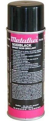 Metaflux zwarte verf glanzend, inhoud: 400 ml