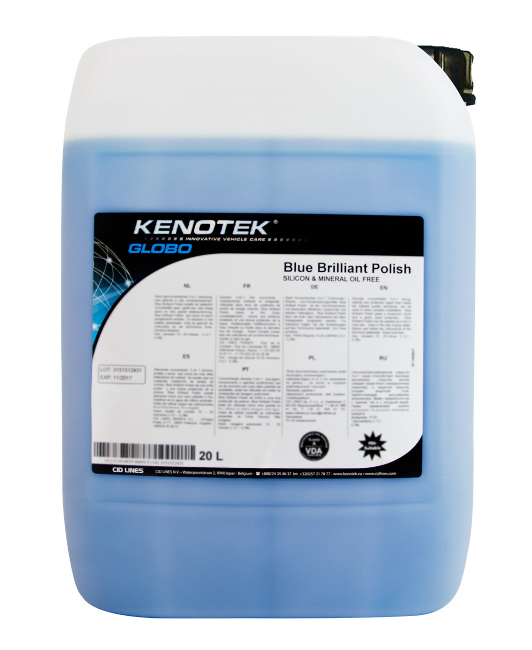 Kenotek Blue Brilliant Polish, inhoud: 5 L