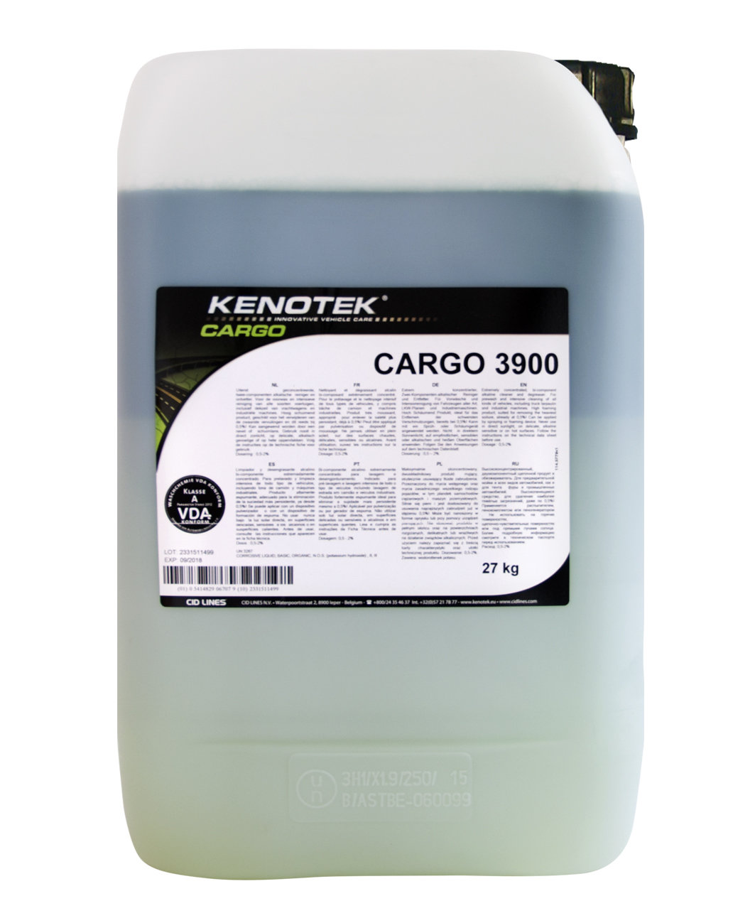Kenotek CARGO 3900, inhoud: 27 kg