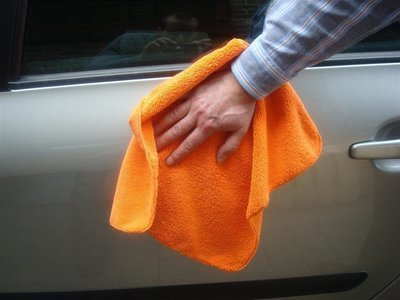 BPB microvezeldoek extra glans 40 x 40 cm oranje